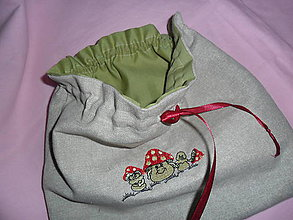 Úžitkový textil - Vrecúško na hríby. - 9665856_