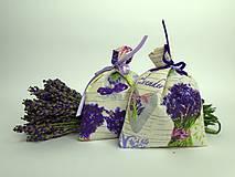 Dekorácie - Levanduľové vrecúška (bavlnené menšie) - 9664305_