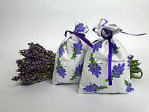 Dekorácie - Levanduľové vrecúška (bavlnené menšie) - 9664307_