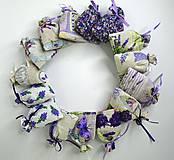 Dekorácie - Levanduľové vrecúška (bavlnené menšie) - 9664318_