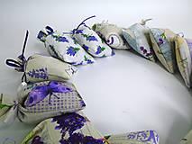 Dekorácie - Levanduľové vrecúška (bavlnené menšie) - 9664322_