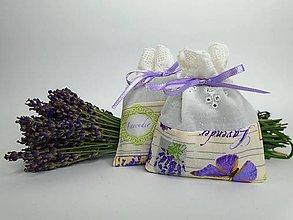 Dekorácie - Levanduľové vrecúška (bavlnené s madeirou) - 9664290_