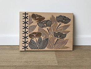Papiernictvo - Drevený fotoalbum - tulipán - 9665428_