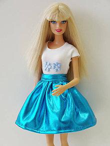 1708df953f88 Hračky - Tričko s modrými kvetmi pre Barbie - 9664699