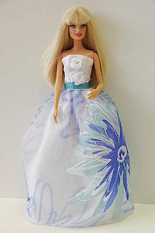 Hračky - Belasé spoločenské šaty pre Barbie - 9664775_