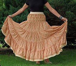 Sukne - Kanýrová boho sukně - 9663150_