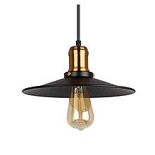 Svietidlá a sviečky - Historické závesné svietidlo v čiernej farbe, 26cm - 9664566_