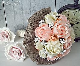 Dekorácie - Ruže zo stúh :) Oranžová :) - 9665549_