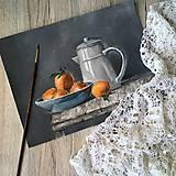 Obrazy - Pomaranče v miske - 9663810_