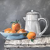 Obrazy - Pomaranče v miske - 9663812_