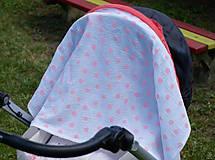 Tehotenské/Na dojčenie - Šatka na dojčenie Pink Dots - 9666124_