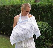 Tehotenské oblečenie - Šatka na dojčenie Dandelion + plienočka  - 9666162_