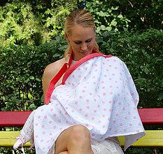 Tehotenské/Na dojčenie - Šatka na dojčenie Pink Dots - 9666122_