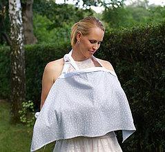 Tehotenské oblečenie - zásterka pre intímne dojčenie Warm Gray - 9666169_