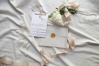 Papiernictvo - Svadobné oznámenie čisté nežné kartičkové - 9663555_