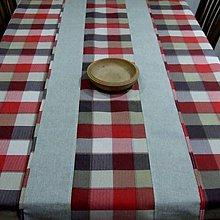Úžitkový textil - Káro vo farbách zeme - stredový obrus - 9663071_