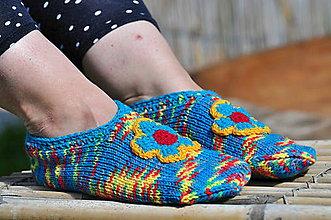 Obuv - pletené papuče - 9666190_