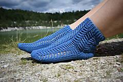 Obuv - JEANS  - ponožky s dierkovaným vzorom (v.38-39) - 9664641_