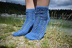 Obuv - JEANS  - ponožky s dierkovaným vzorom (v.38-39) - 9664657_
