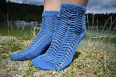 Obuv - JEANS  - ponožky s dierkovaným vzorom (v.38-39) - 9664658_