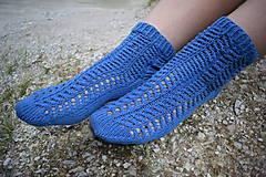 Obuv - JEANS  - ponožky s dierkovaným vzorom (v.38-39) - 9664659_