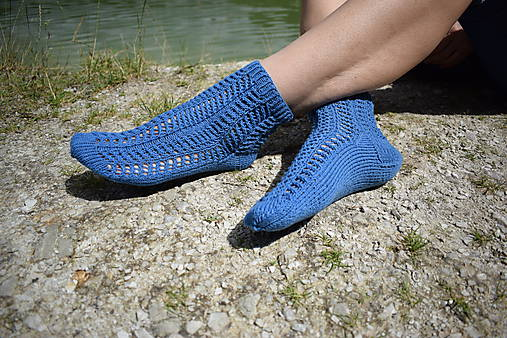 JEANS  - ponožky s dierkovaným vzorom (v.38-39)