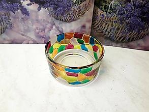Svietidlá a sviečky - Svietnik Mozaika malý 2. - 9663913_