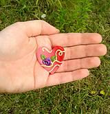 Magnetky - Šťastné srdce na dlani - 9663147_