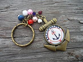 Kľúčenky - ZĽAVA - VÝPREDAJ :) Kľúčenka Námornícka...Sweet Navy - 9666588_