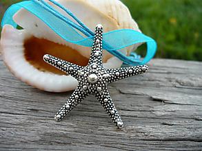 Náhrdelníky - ZĽAVA - VÝPREDAJ :) Náhrdelník Morská Hviezdica - 9666839_