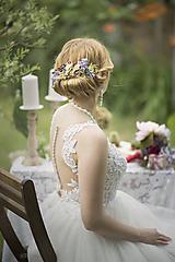 Ozdoby do vlasov - Svadobný polvenček z lúčnych kvetov - 9668397_