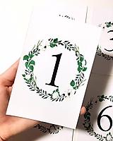 Grafika - Svadobné číslovanie stolov (6ks) - 9668003_