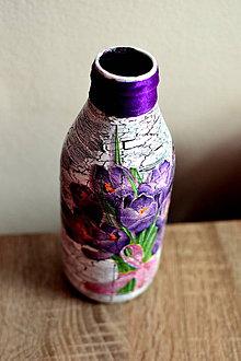 Dekorácie - Kvietkovaná váza - 9667327_