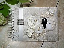 Papiernictvo - Promise svadbný album alebo kniha hostí - 9667534_