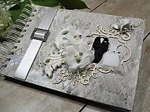 Papiernictvo - Promise svadbný album alebo kniha hostí - 9667537_