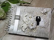 Papiernictvo - Promise svadbný album alebo kniha hostí - 9667541_