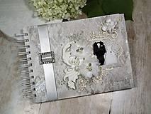 Papiernictvo - Promise svadbný album alebo kniha hostí - 9667544_