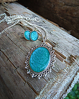 Náhrdelníky - Modrý vintage náhrdelník - 9668402_
