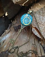 Náhrdelníky - Steampunk náhrdelník kľúč - 9668412_
