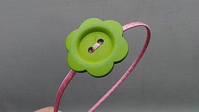 Ozdoby do vlasov - Gombík zelený... čelenka - 9668641_