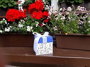Krabičky - Kolekcia - Modrotlač (č.3) - 9666735_
