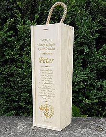 Dekorácie - Mechanik drevená krabica na víno - 9667556_