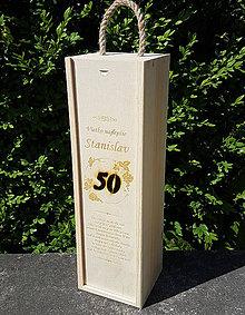 Dekorácie - Drevená škatuľa na víno - 9667561_