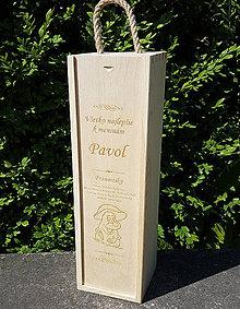Dekorácie - Drevený box na víno - 9667565_