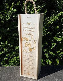 Dekorácie - Obal na víno s receptom na dlhovekosť - 9667619_