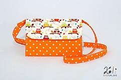 Detské tašky - Detská kabelka - pastelkovníčka Sovičky - 9668271_