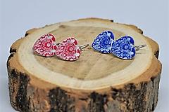 Náušnice - Srdiečkové ródiované folk náušnice II - 9668733_