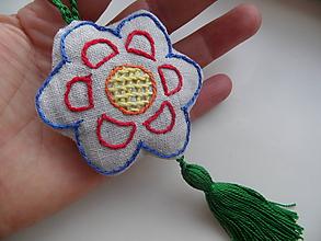 Dekorácie - kvetinka s vôňou mäty - 9668987_
