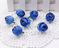 Púčiky ružičky 2 cm  (Modré)