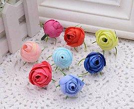 Polotovary - Púčiky ružičky 2 cm - 9666569_